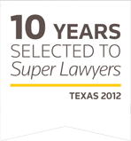 10 years Super Lawyers Badge